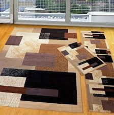 Modern Style Area Rugs Furnishmyplace 3 Pieces Modern Contemporary Geometric Area Rug