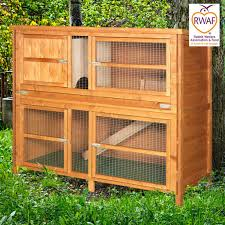 Large Rabbit Hutch With Run Home U0026 Roost U2013 5ft Chartwell Double Luxury Rabbit Hutch