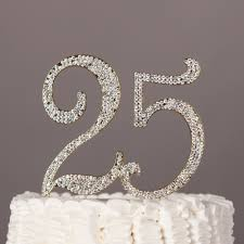 25 cake topper 25 cake topper gold rhinestone metal number decoration