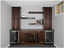 Office Bar Cabinet with Furniture Semi Circle Dark Brown Wooden Bar Cabinet With Black