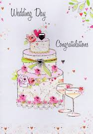 wedding day congratulations wedding day congratulations card water colours by second nature