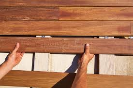 ipe decking deck wood installation clips fasteners stock image