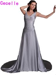 dresses for second wedding informal simple silver grey informal reception wedding dresses