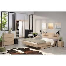 chambre adulte brook chambre adulte complète style contemporain décor chêne