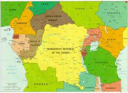 Africa Map Political by Map Of Central Africa Central Africa Political Map Central Part