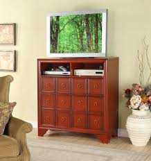 red apothecary media console passport furnishings