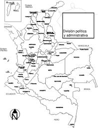 colombia map vector colombia regions map vector image domain vectors