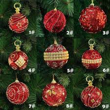 8cm 80mm christmas decor luxury round christmas balls wedding xmas