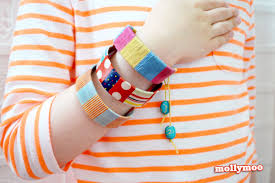 mollymoocrafts quick craft craft stick bracelets