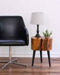 Mid Century Modern Sofa Legs by Tree Stump Side Table With Mix And Match Diy Leg Options U2013 Diy
