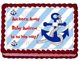 nautical boy baby shower cake by eyecandeycreativedesigns on zibbet