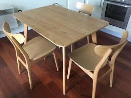lily rectangular dining room table by john lewis with 3 chairs