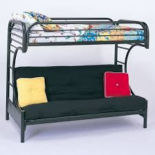 Black Futon Bunk Bed Coaster C Style Metal Futon Bunk Bed In Black Finish 2253k