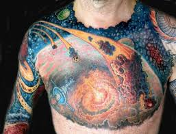 amazing space tattoo on sleeve for men tattooshunter com