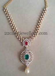 simple diamond set regal look simple diamond set jewellery designs
