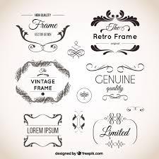 vintage ornaments set vector premium