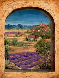 Ceramic Tile Murals For Kitchen Backsplash Tuscan Wall Murals Tuscan Landscapes For Tile Murals Tile