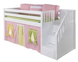 MaxtrixOnlinecom Low Loft Bed With Stairs Steps - Maxtrix bunk bed