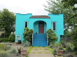 bold turquoise color red tile style pinterest wooden gates