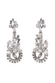 gunmetal chandelier earrings abstract crystal chandelier earrings by tom binns for 55 rent