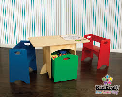 kidkraft nantucket 4 piece table bench and chairs set furniture amazon kidkraft table with primary benches toys games
