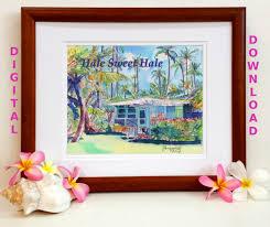 hawaiian home decor hawaiian quotes digital art prints 8x10 and 5x7 printable wall art