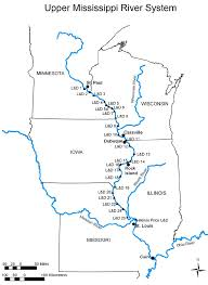 Map Of The Mississippi River Historical Floodplain Sedimentation Along The Upper Mississippi