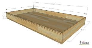 Plans For Twin Platform Bed With Storage by Simple Twin Bed Trundle Her Tool Belt