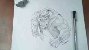 drawing rocksteady teenage mutant ninja turtles out of the
