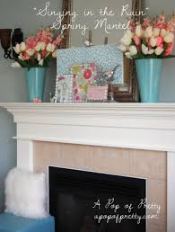 Easter Home Decorations Spring Easter Mantel Decor A Pop Of Pretty Blog Canadian Home