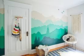 wandgestaltung mit farbe wandgestaltung mit farbe wandgemälde bergen selber machen
