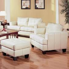 tufted leather chair and ottoman samuel beige leather ottoman steal a sofa furniture outlet los