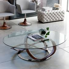 Glass Oval Coffee Table by Infinity Glass Top Oval Coffee Table With Stainless Steel Frame In