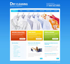 Web Design Estimate Template by Website Template 43934 Dry Cleaning Company Custom Website