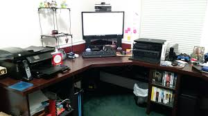 gaming l shaped desk xbox archives gamingsetups