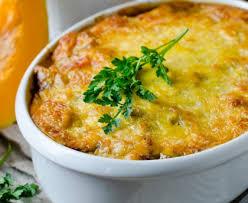 cuisiner un potiron gratin de potiron au boeuf et parmesan recette de gratin de