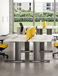 bureau partagé bureau bench pour 2 personnes mélaminé jet de la gamme idea quadrifoglio