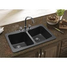 home depot black sink simple kitchen with granite composite countertops metallic black