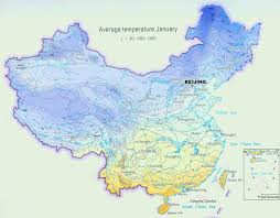 Harbin China Map by Climate Map Of China For January Average Temperature In Large