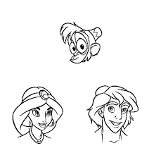 pictures aladdin characters coloring