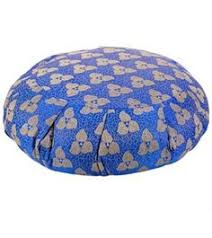 sari pattern zafu meditation cushion barefoot yoga mandala embroidered zafu yoga meditation cushion