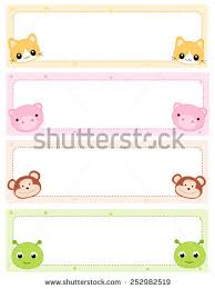 colorful kids tags cute animal stock vector 252982519