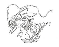 legendary pokemon mega rayquaza coloring pages cartoon best