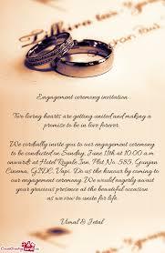 engagement ceremony invitation we cordially invite you to our engagement ceremony to be conducted