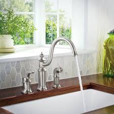 moen high arc kitchen faucet moen s711 chrome high arc kitchen faucet with side spray from the