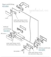 tempered glass door hardware perfect 304 stainless steel cover aluminum body tempered glass