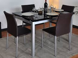 table rectangulaire cuisine beau table de cuisine en verre avec rallonge et table