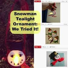 adorable snowman tealight ornaments can make cafemom
