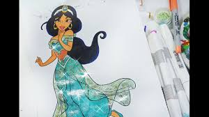 princess jasmine coloring book disney princess coloring page youtube