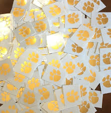 tiger paw temporary gold foil set of 5 right side of